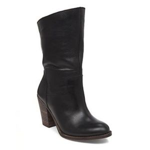 Lucky Brand Emberleigh Heeled Leather Bootie 9.5